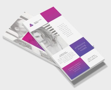 Modelling Agency DL Rack Card Template
