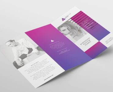 Modelling Agency Tri-Fold Brochure Template