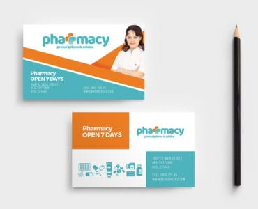Pharmacy Business Card Template