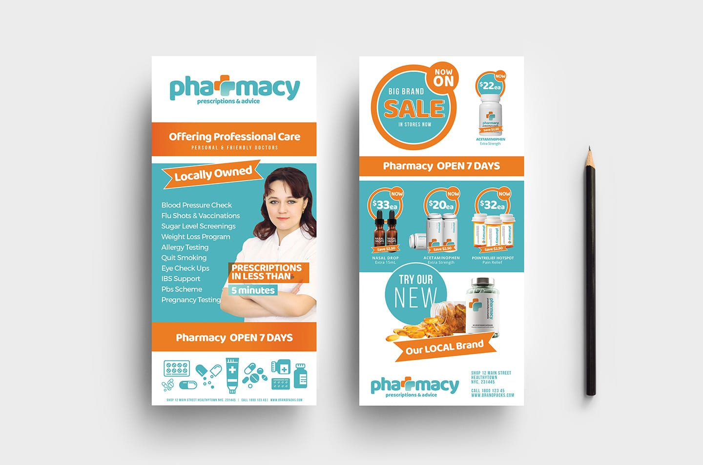 Pharmacy DL Card Template
