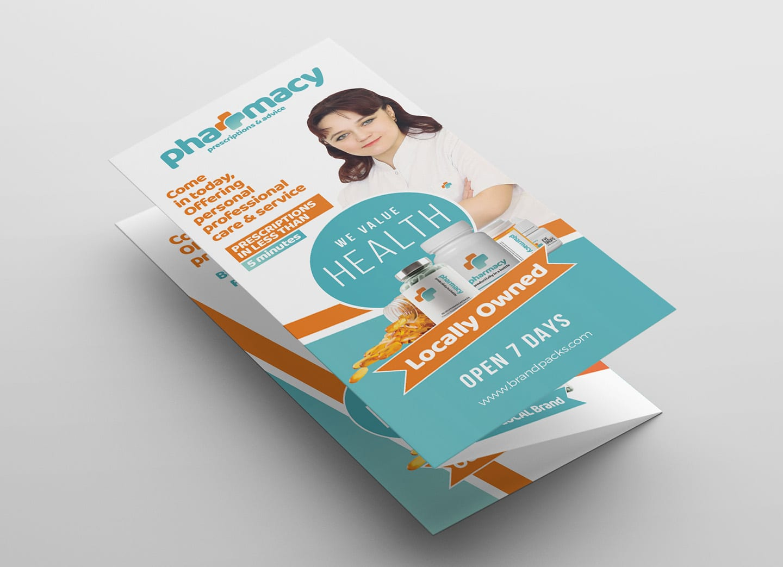 Pharmacy Tri-fold Brochure Template - PSD, Ai & Vector - BrandPacks Pertaining To Pharmacy Brochure Template Free