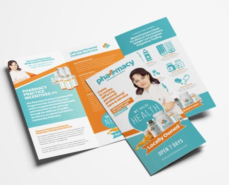 Pharmacy Trifold Brochure Template