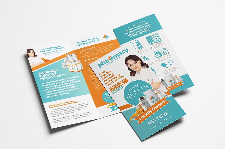 Pharmacy Trifold Brochure Template