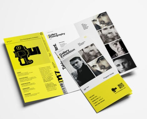 Photography Exhibition Trifold Brochure Template