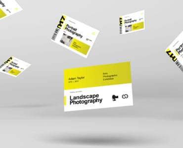 Photography Exhibition Business Card Template