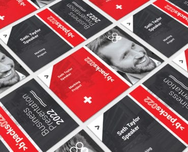 Swiss Style Business Card Template