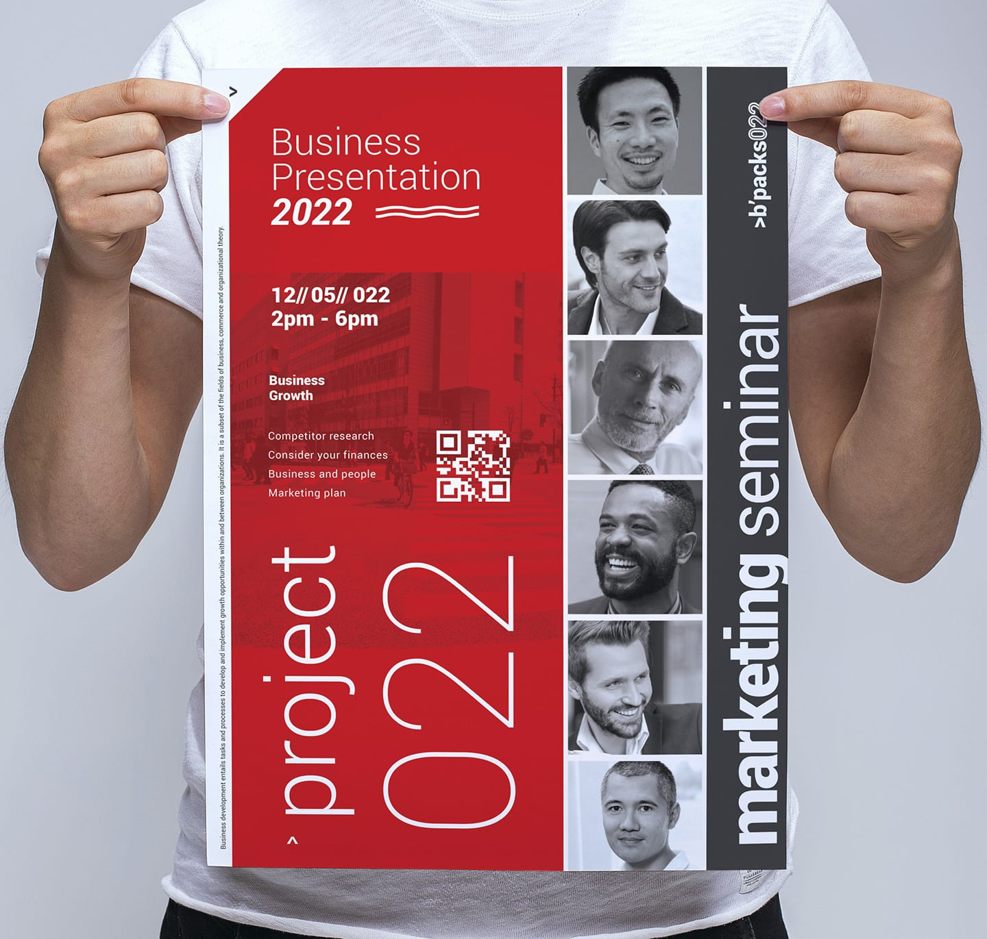 Swiss Style Poster Template - PSD, Ai & Vector - BrandPacks