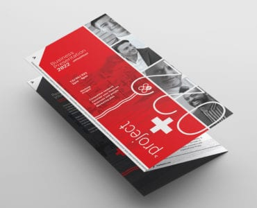 Swiss Style Trifold Brochure Template Front