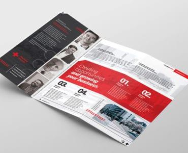 Swiss Style Trifold Brochure Template Inside