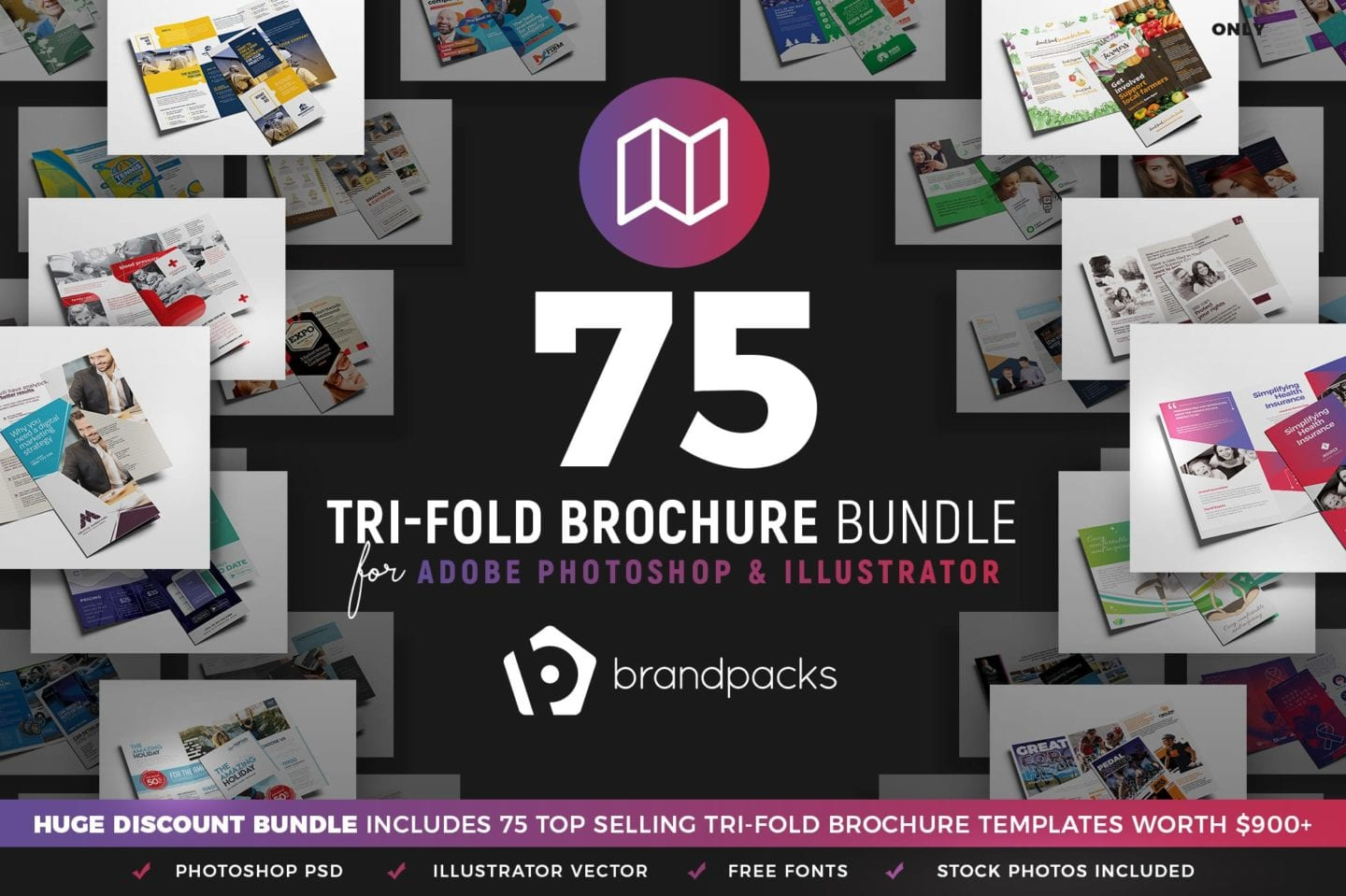 Trifold Brochure Templates Bundle