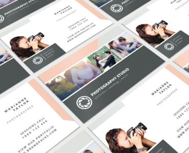 Wedding Photographer Business Card Template