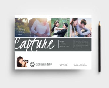 Wedding Photographer Flyer Template