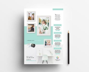 Wedding Photographer Poster Template