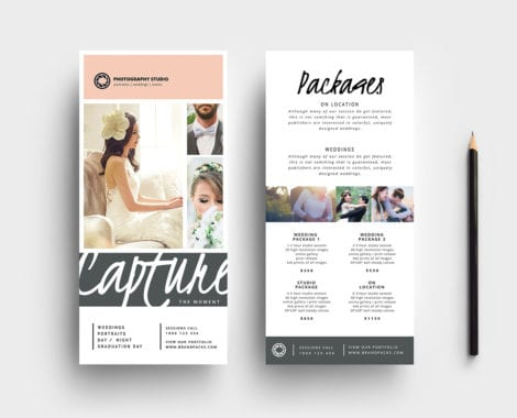 Wedding Photographer DL Rack Card Template