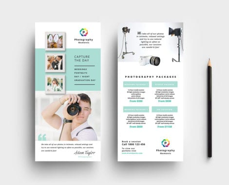 Wedding Photographer DL Card Template