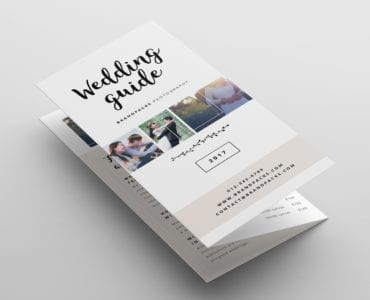 Wedding Photography Trifold Brochure Template