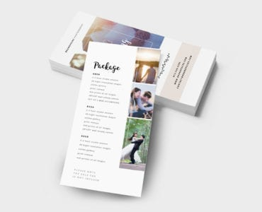 Wedding Photography DL Card Template