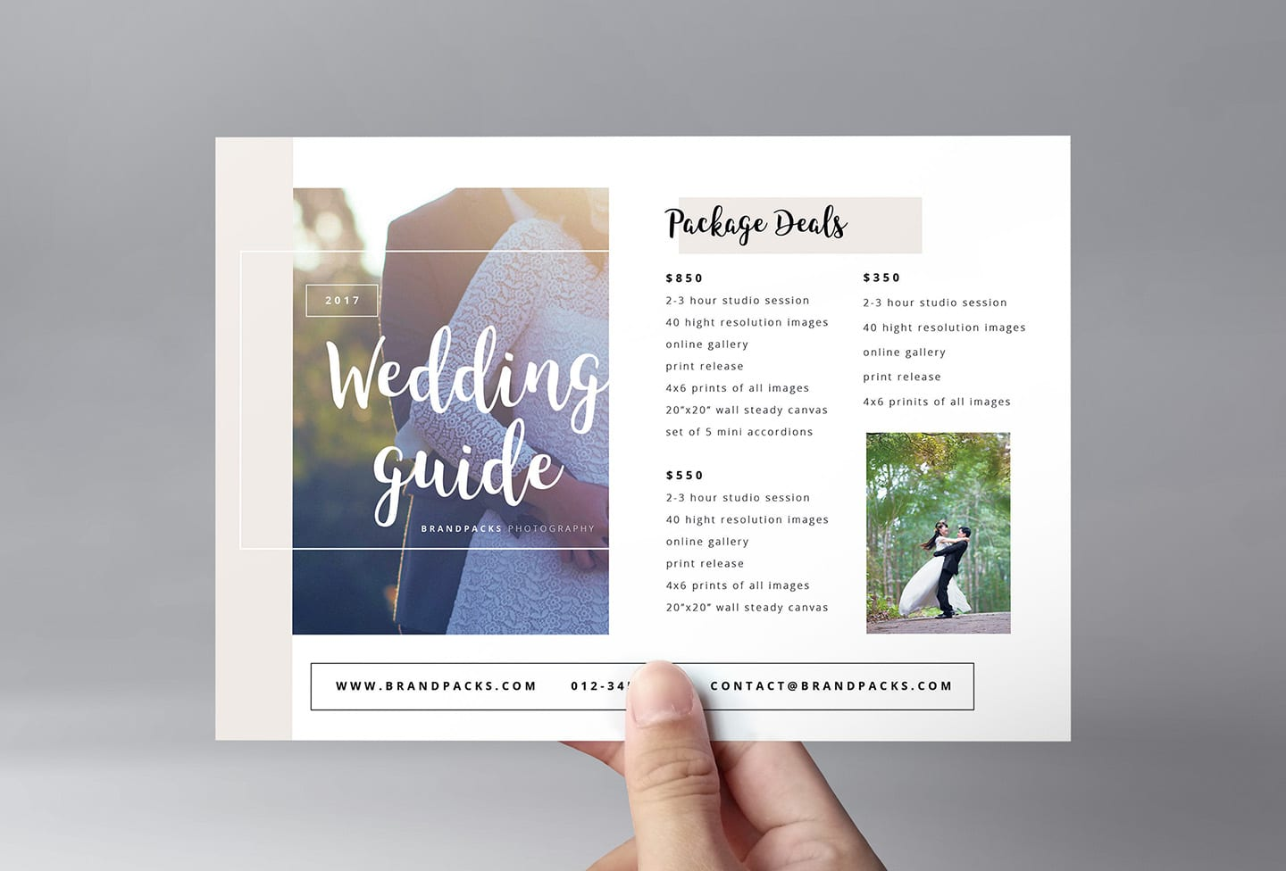 Wedding Photography Flyer Template - PSD, Ai & Vector - BrandPacks