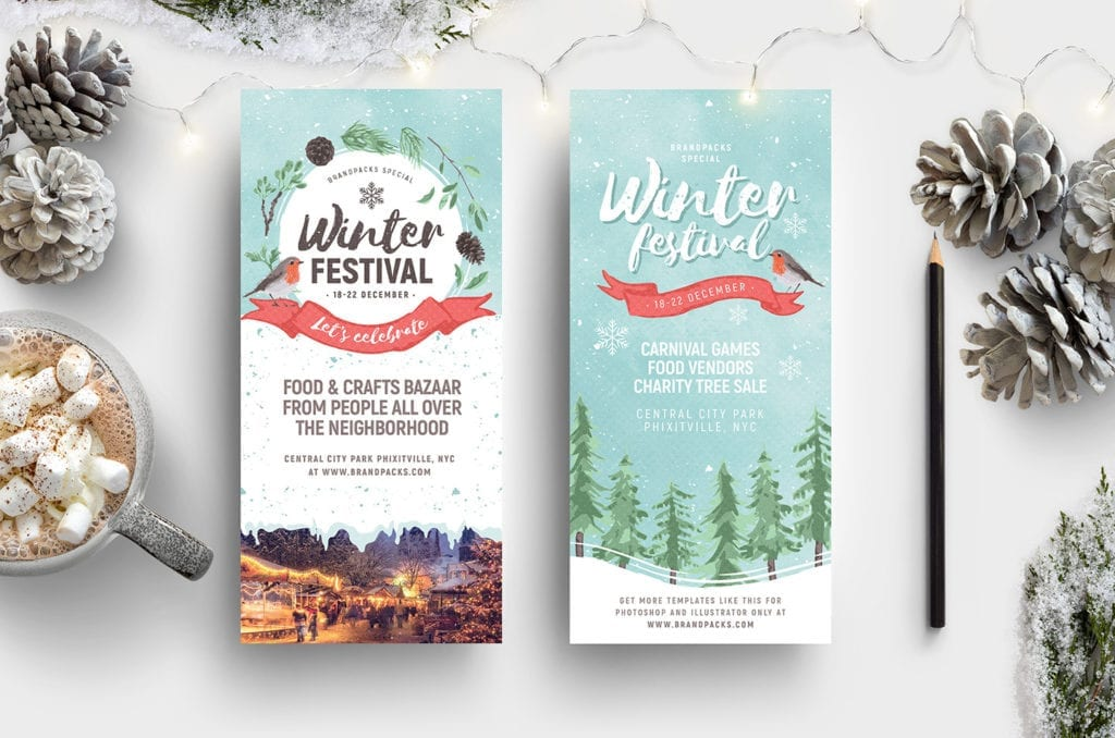 Winter Festival DL Card Template