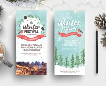 Winter Festival DL Card Template