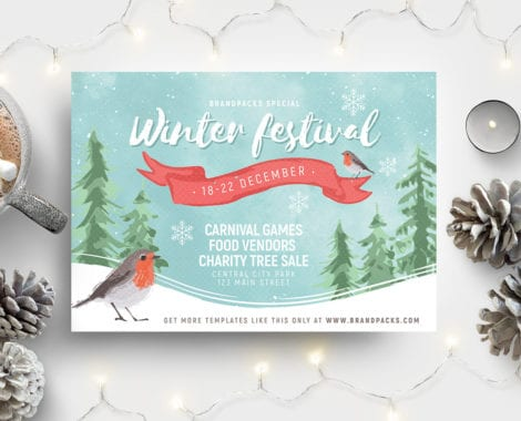 Winter Festival Flyer Template