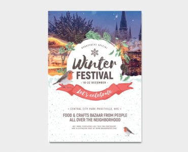 Winter Festival Poster Template