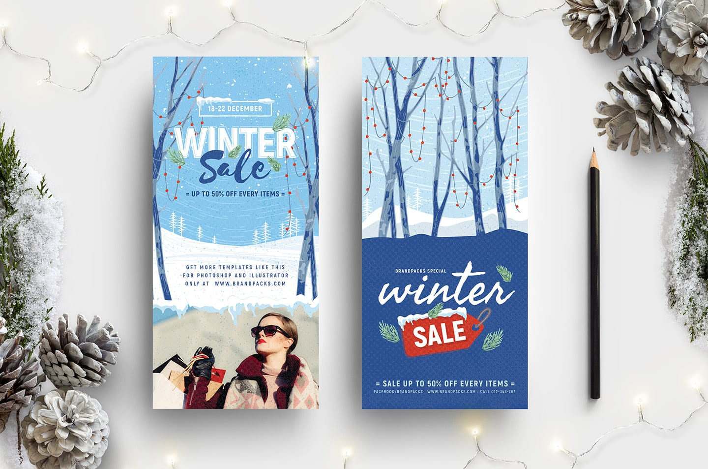 Winter Sale DL Card Template