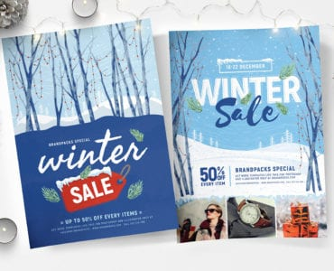 Winter Sale Poster Templates