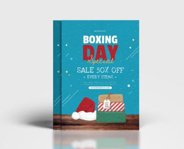 A4 Boxing Day Sale Poster Template
