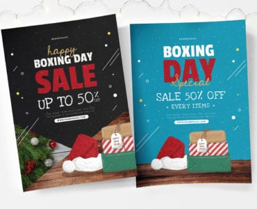 A4 Boxing Day Sale Poster Templates