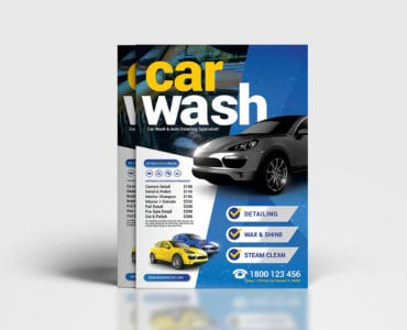 A4 Car Wash Poster / Flyer Template