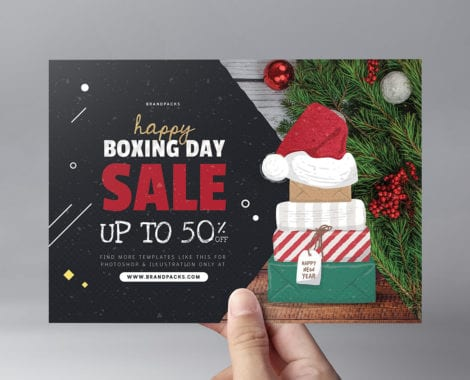 A5 Boxing Day Sale Flyer Template