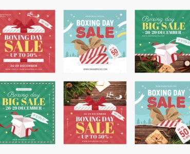 Boxing Day Sale Banner Templates
