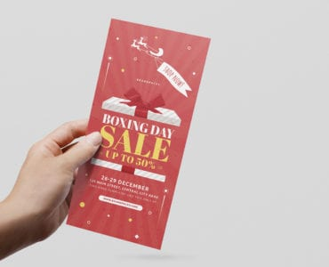Boxing Day Sale DL Card Template