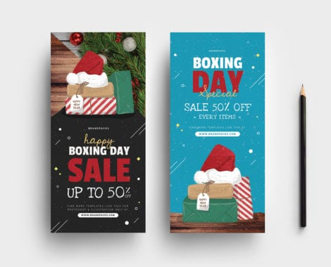 Boxing Day Sale Rack Cards