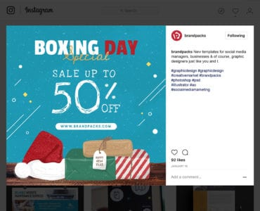 Boxing Day Sale Instagram / Banner Template