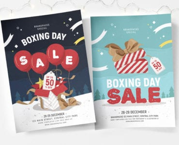 Boxing Day Sale Poster Template