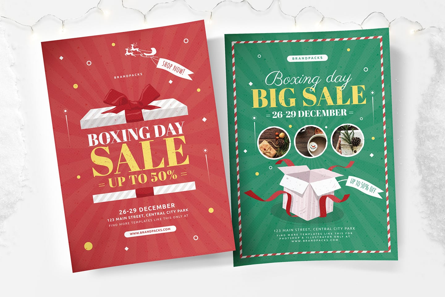 Boxing Day Sale Poster Templates
