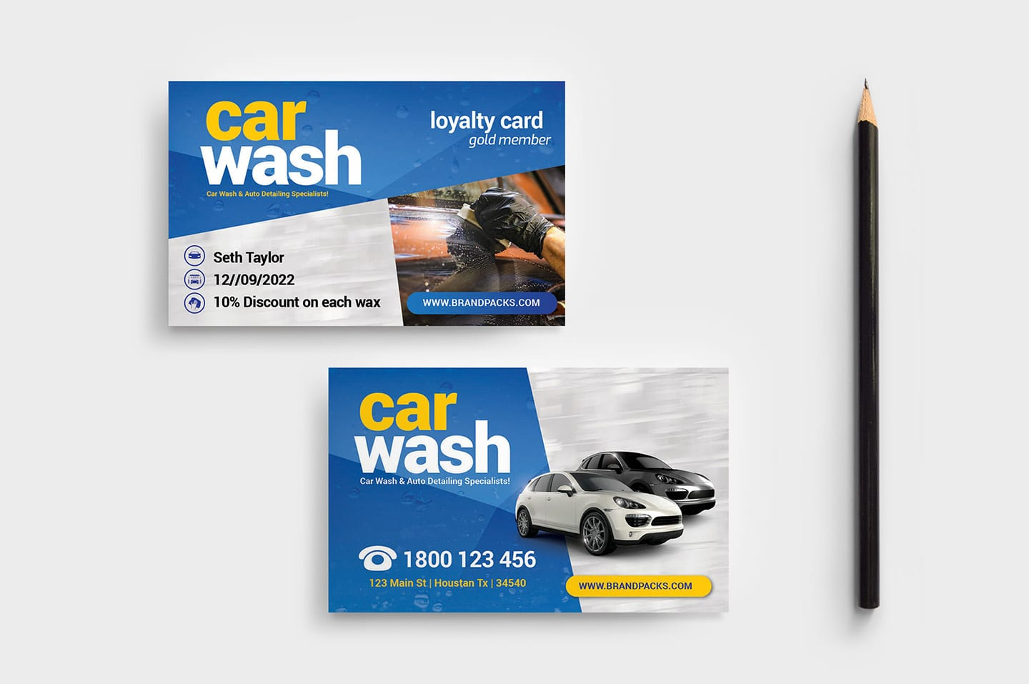 Car Wash Business Card Template