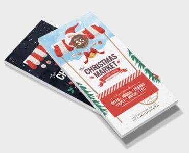 Christmas Market DL Rack Card Template