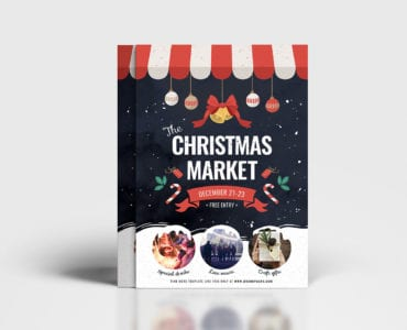 Christmas Market Poster Template