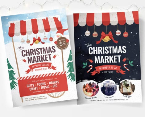 Christmas Market Poster Templates