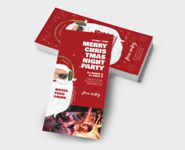 Christmas Party DL Rack Card Template
