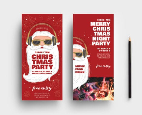 Christmas Party DL Rack Card Templates