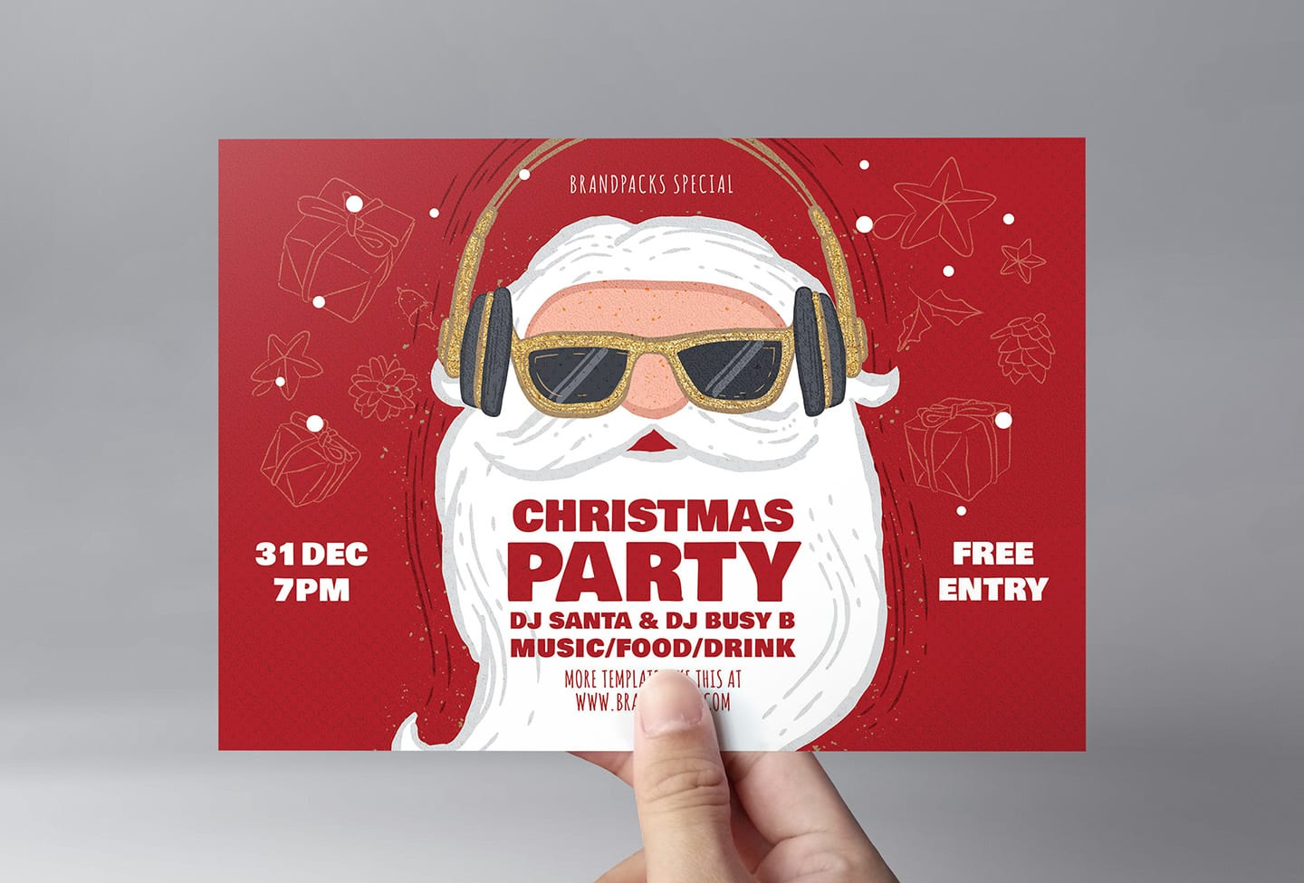 Christmas Party Flyer Template.Christmas Party Flyer Template Psd Ai Vector Brandpacks