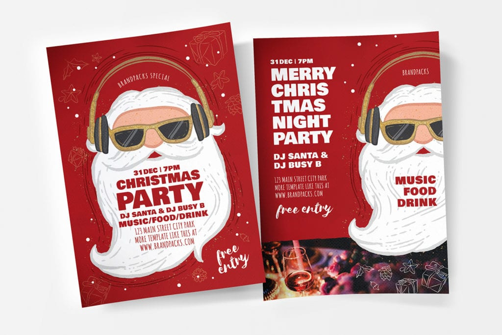 Christmas Party Poster Templates