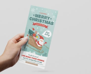 Merry Christmas DL Card Template