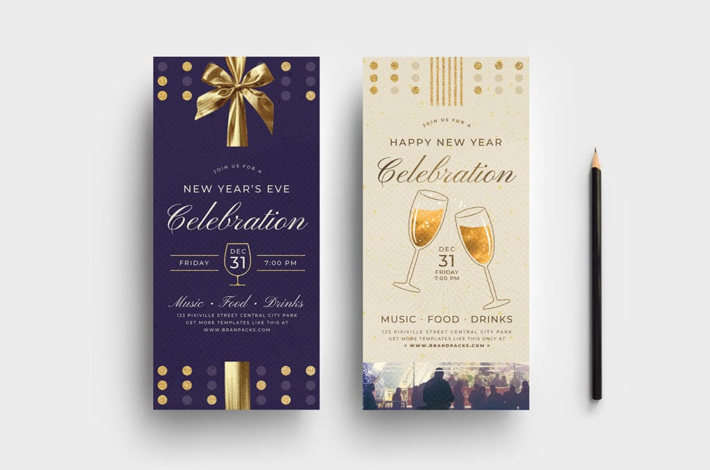 New Year's Eve DL Card Template