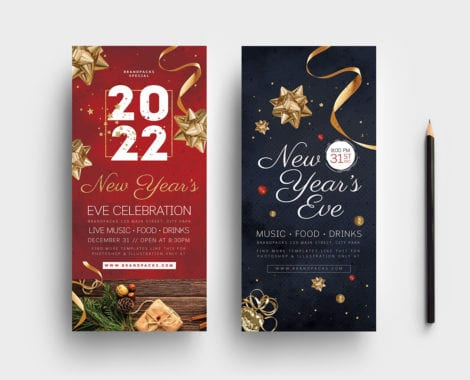 NYE DL Rack Card Template
