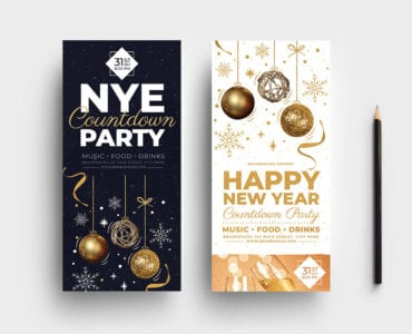 NYE Party DL Card Template